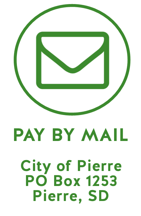 Pay by Mail City of Pierre PO Box 1253 Pierre, SD