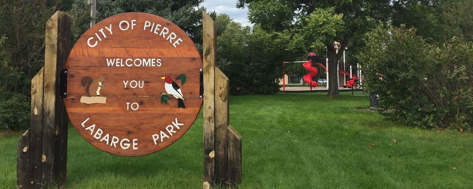 LABARGE PARK WELCOME SIGN