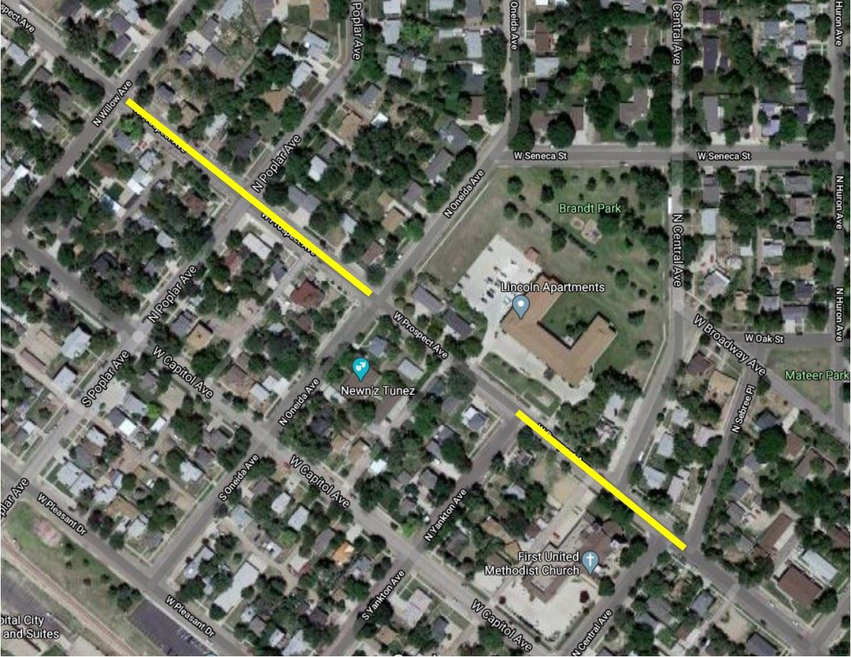 PROSPECT AVE CLOSURE MAP